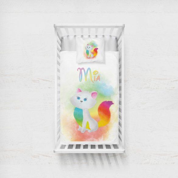 NEVES TAKARÓ- Szivárvány cica (saját alkotás)