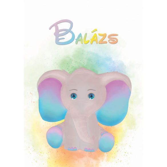 NEVES TAKARÓ- Szivárvány elefánt (saját alkotás)