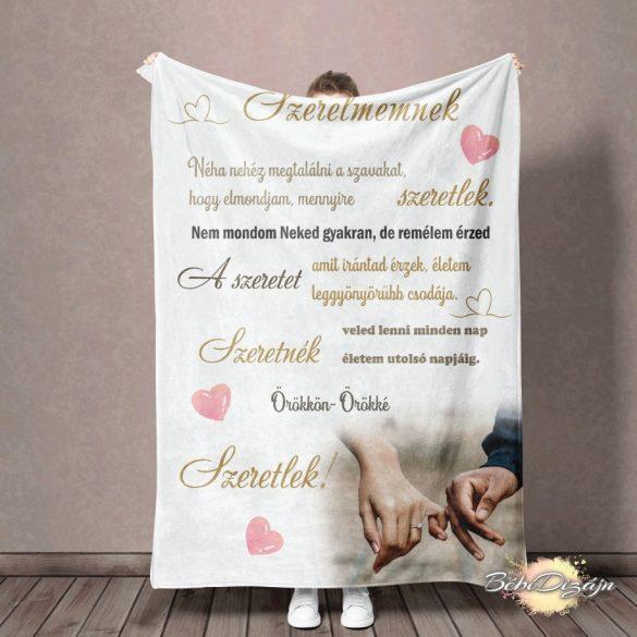 Felnőtt takaró- Szerelmemnek