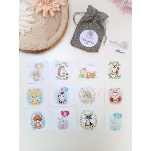Cuki állatkás Memóriakártyák