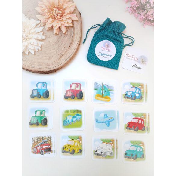 Gépjárműves Memóriakártyák